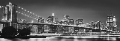 Fototapeta 4 dílná / Fototapety Komar na zeď (368 x 127 cm) New York Brooklyn Bridge 4-320