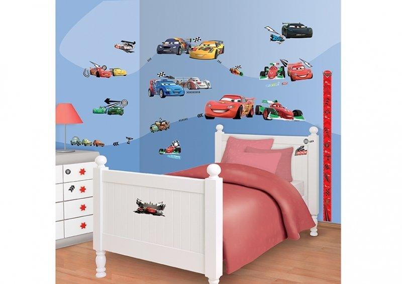 Samolepicí dekorace na zeď Walltastic Disney Cars 41479 / Samolepky na zeď Disney Auta (34 x 46 cm)