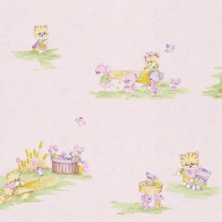 Dětská papírová tapeta Piccolo 270914 / Dětské papírové tapety na zeď Rasch (0,53 x 10,05 m)