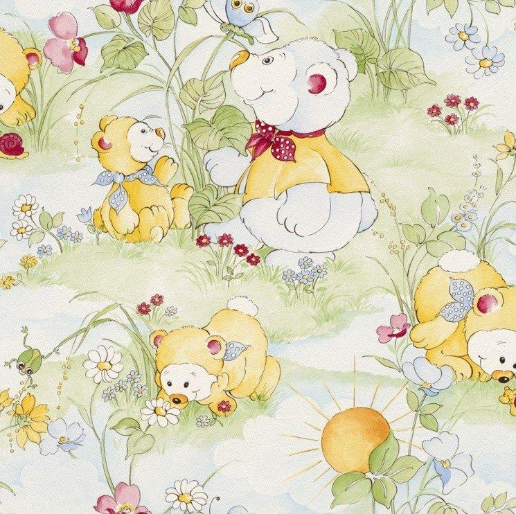 Dětská papírová tapeta Piccolo 270808 / Dětské papírové tapety na zeď Rasch (0,53 x 10,05 m)