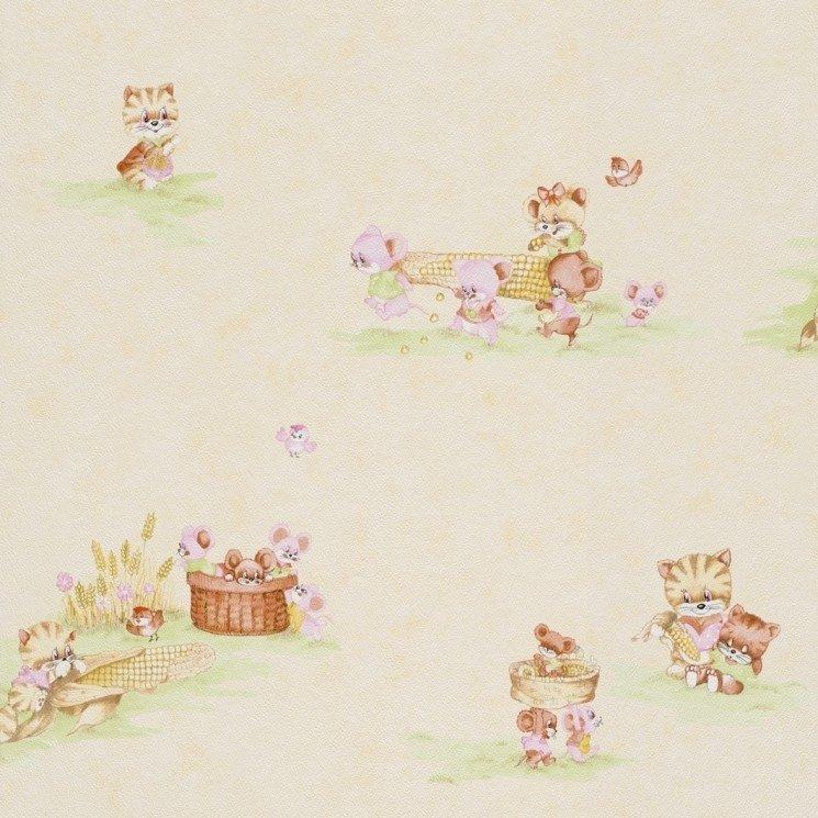 Dětská papírová tapeta Piccolo 270921 / Dětské papírové tapety na zeď Rasch (0,53 x 10,05 m)