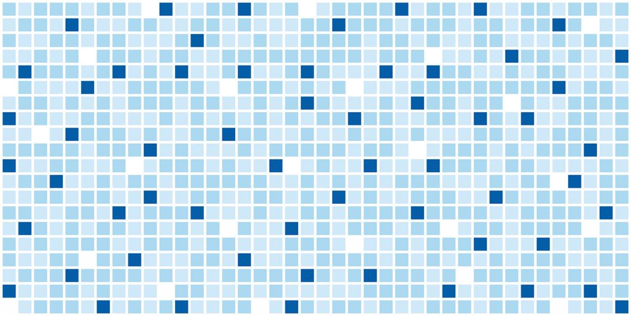 3D obkladový panel na zeď D0017 modrá mozaika / 3D stěnové obkladové panely PVC (935 x 469 mm)