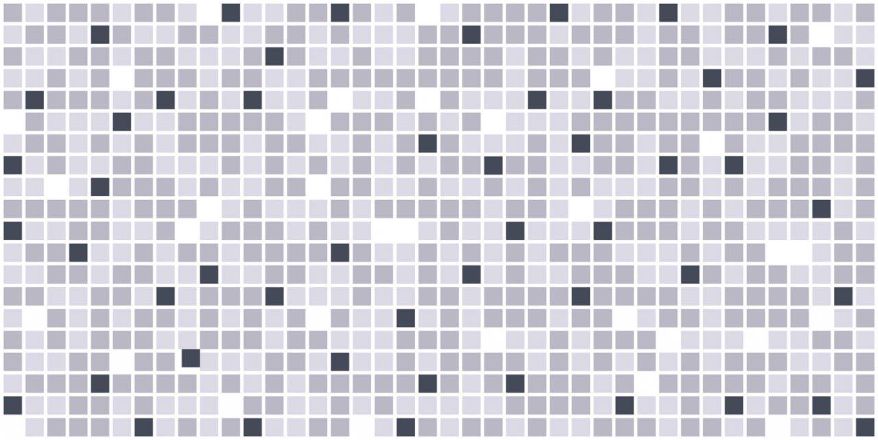 3D obkladový panel na zeď D0018 šedá, černá mozaika / 3D stěnové obkladové panely PVC (935 x 469 mm)