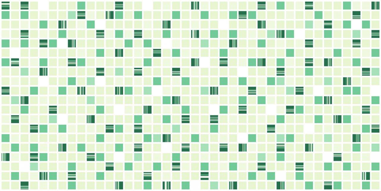 3D obkladový panel na zeď D0020 zelená mozaika / 3D stěnové obkladové panely PVC (935 x 469 mm)