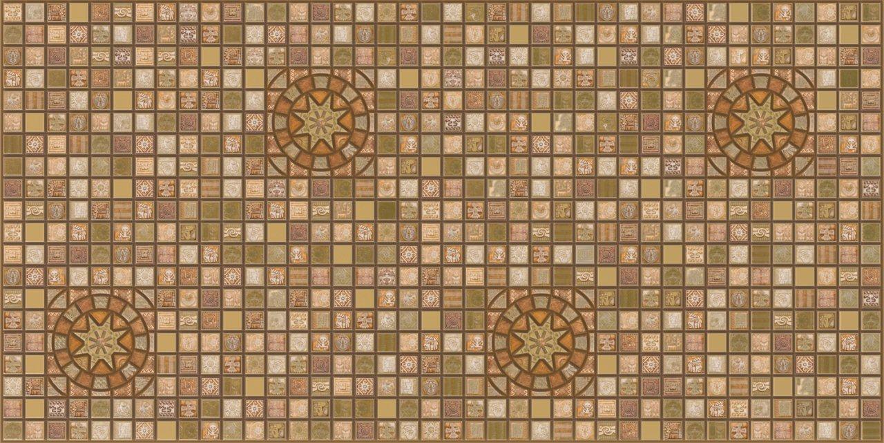 3D obkladový panel na zeď D0009 barevná mozaika / 3D stěnové obkladové panely PVC (935 x 469 mm)