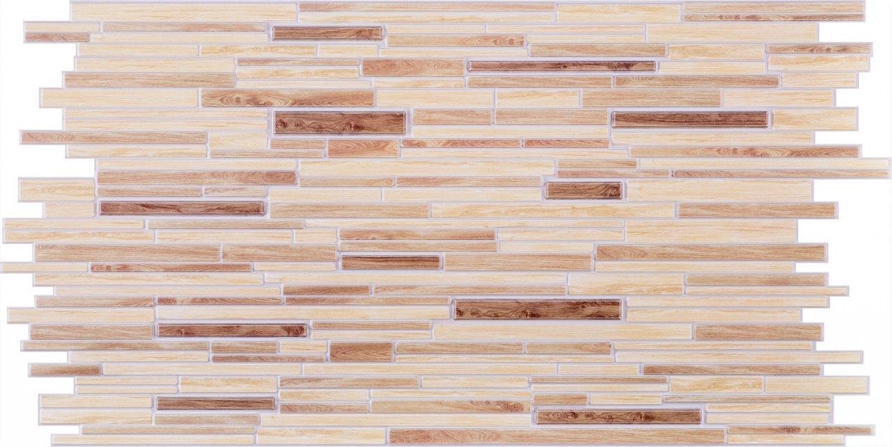 3D obkladový panel na zeď D0010 dřevěná prkna / 3D stěnové obkladové panely PVC (935 x 469 mm)