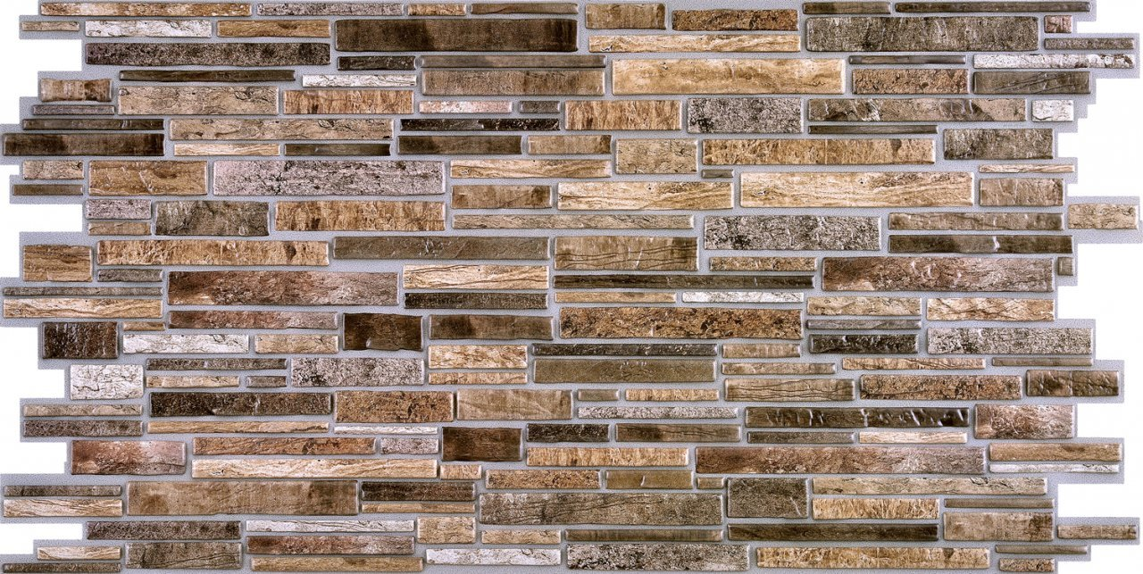 3D obkladový panel na zeď D0002 cihly tmavé / 3D stěnové obkladové panely PVC (935 x 469 mm)