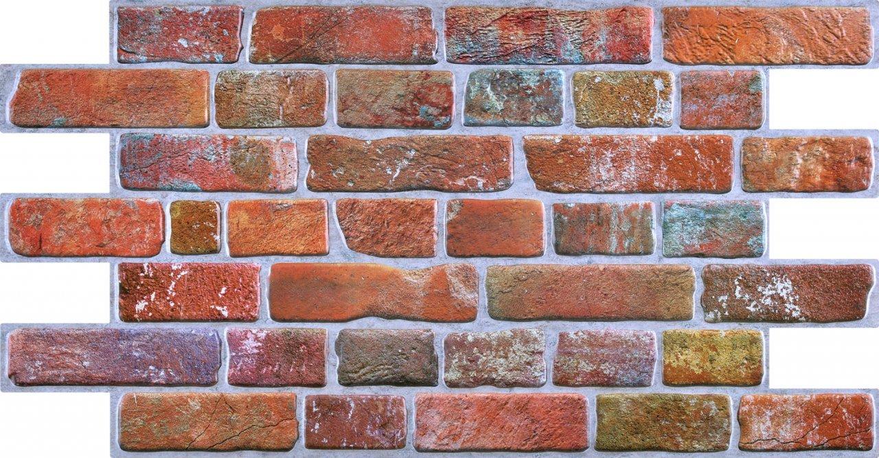 3D obkladový panel na zeď D0006 cihly červené / 3D stěnové obkladové panely PVC (935 x 469 mm)