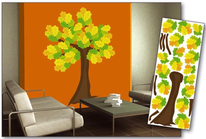 Samolepicí dekorace na zeď Dub, Strom ST2 019 / Samolepka na stěnu Oak Tree (65 x 165 cm) Dimex