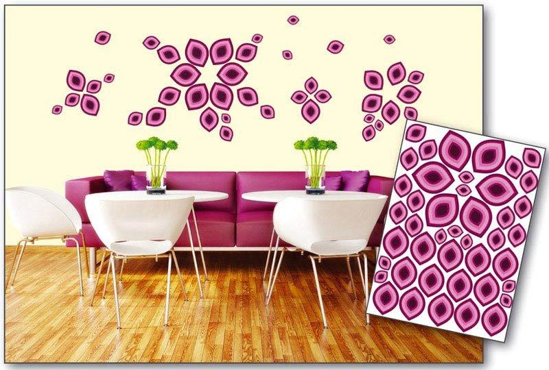 Samolepicí dekorace na zeď Fialové okvětní lístky ST1 016 / Samolepka na stěnu Violet Petals (50 x 70 cm) Dimex