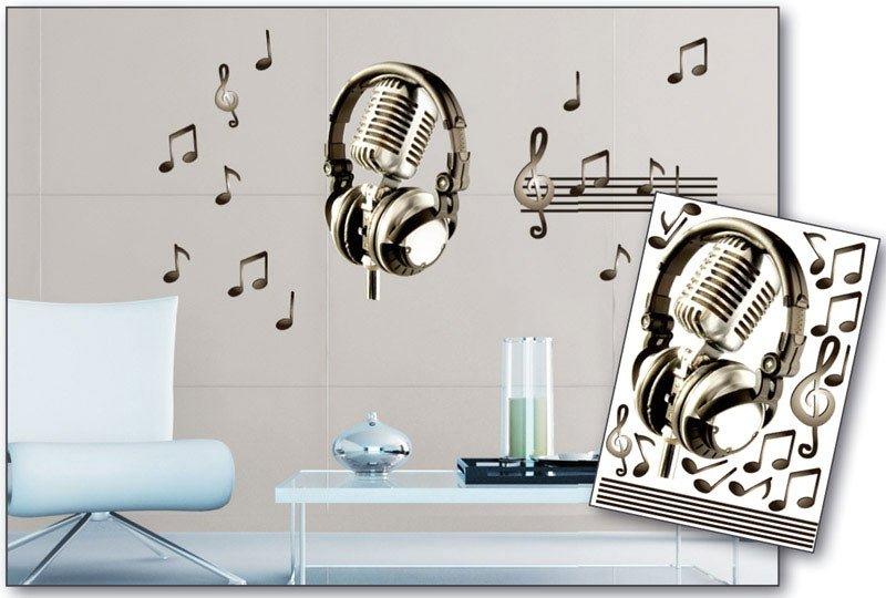 Samolepicí dekorace na zeď Hudba ST1 006 / Samolepka na stěnu Music (50 x 70 cm) Dimex