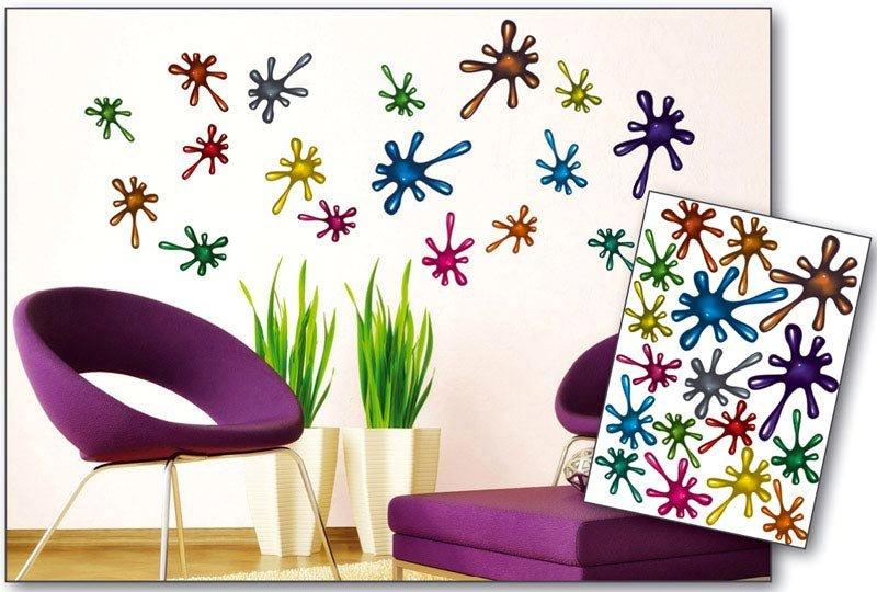 Samolepicí dekorace na zeď Kaňky ST1 007 / Samolepka na stěnu Blobs (50 x 70 cm) Dimex