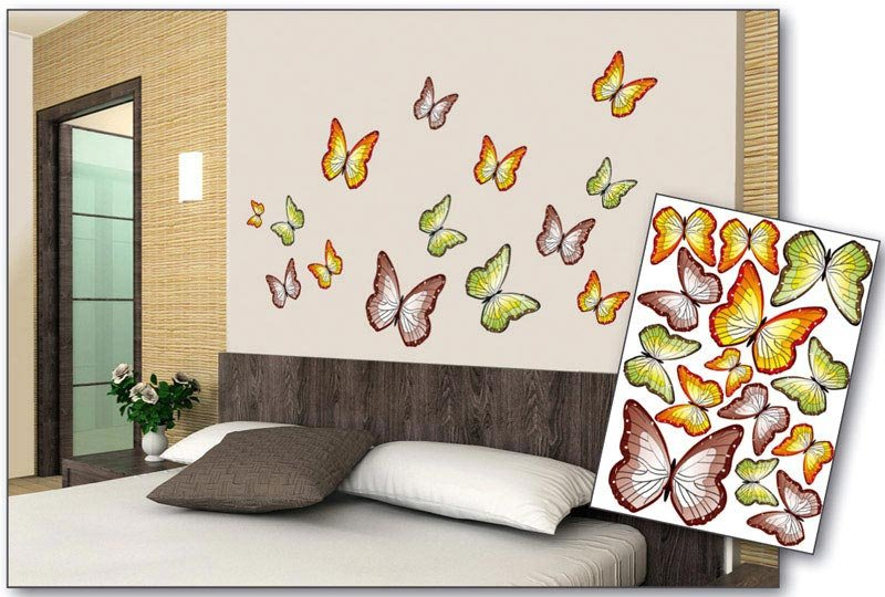 Samolepicí dekorace na zeď Motýli ST1 015 / Samolepka na stěnu Butterflies (50 x 70 cm) Dimex