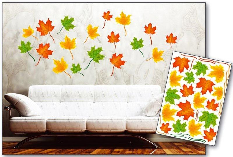 Samolepicí dekorace na zeď Podzimní javorové listí ST1 013 / Samolepka na stěnu Maple Leaves (50 x 70 cm) Dimex