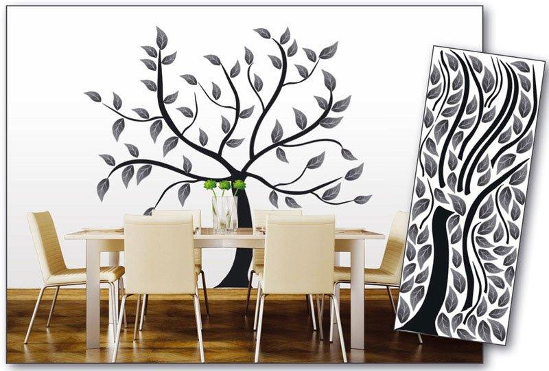 Samolepicí dekorace na zeď Strom abstrakt černý ST2 020 / Samolepka na stěnu Abstract Tree (65 x 165 cm) Dimex