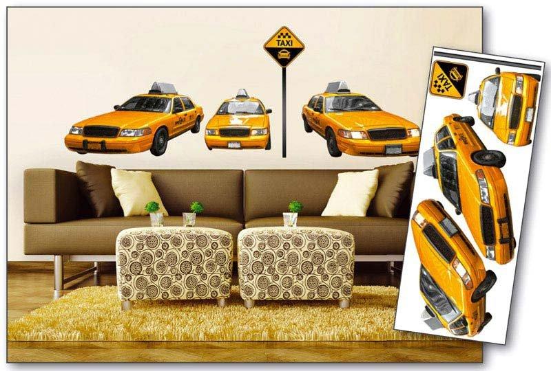Samolepicí dekorace na zeď Žluté Taxi ST2 008 / Samolepka na stěnu (65 x 165 cm) Dimex